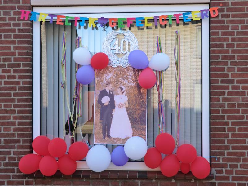40 jarig huwelijkspaar ton en corrie reijnen merry quotes for Ballonnen versiering zelf maken